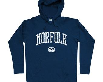 Norfolk 757 Hoodie - Men S M L XL 2x 3x - Norfolk Virginia Hoody, Sweatshirt, Virginia Beach, Hampton Roads - 4 Colors