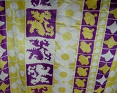Vintage Slinky knit  purple and yellow fabric