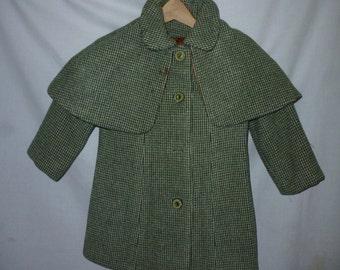 Vintage Chids Wool Tweed Coat