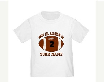 ON SALE All Star Personalized Birthday Shirt Kids Football Birthday T-shirt - Any Age