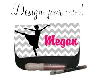 Personalized Monogram Make up Bag Personalized Dance Gifts - CREATE YOUR OWN