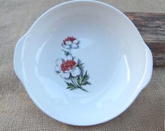 Empress Bowls Set of 3  ~  Empress Made in USA Bowls  ~  Empress Serving Bowls with Flowers  ~  Empress Floral Bowls