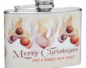 Merry Christmas and Happy New Year 4oz Hip Flask FF8HC5