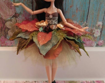 Ever After High Doll Forest Ballerina Dress with matching Headband