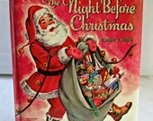 Whitman Pillow Book The Night Before Christmas Clement C Moore 1967 Mid Century Childrens Book