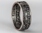 Susan B Anthony Dollar Coin Ring (tails out)