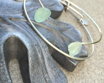 Seaglass 'Pinch' Bangle Bracelets