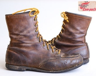 60s Red Wing Compac's Soft Toe Hunting Chukka Leather Work Boots Womens 9