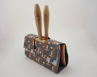 Hand Carder Cover. Fabric Case for your Hand Carders. Fox Print