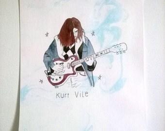 """Kurt Vile Print 5,8""""x 8,26"""""""