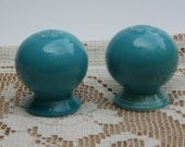 Fiesta Ware salt and pepper shakers aqua