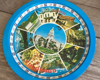 COLORFUL COLORADO - Vintage Tin Tray