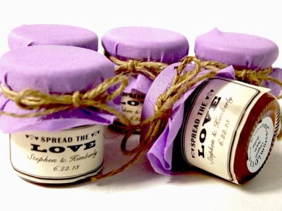 50 mini fall wedding jam jar favors small jam jars for. Black Bedroom Furniture Sets. Home Design Ideas