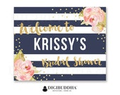 BRIDAL Shower WELCOME SIGN Baby Shower Welcome Signs Wedding Welcome Signs Candy Bar Signs Party Decor Sign DiY Printable or Printed- Krissy