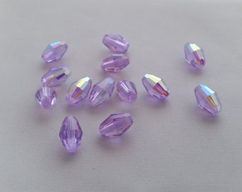 Swarovski 6x9 Violet AB Oval Crystals