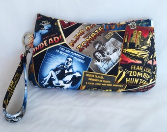 Monster, Zombie, Horror, Old Hollywood, Movies, Purse, Bag, Wristlet, Handbag, Pouch, Clutch, Zipper Pouch