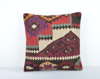 Kilim pillow cover, kp1742, Kilim Pillow, Turkish Pillow, Kilim Cushions, Kilim, Moroccan Pillow, Bohemian Pillow, Turkish Kilim