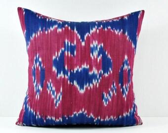Ikat Pillow, Hand Woven Ikat Pillow Cover,  SPE-104, Ikat throw pillows, Designer pillows, Decorative pillows, Accent pillows