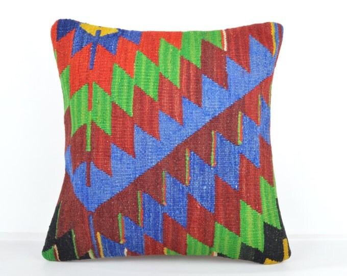Kilim pillow, Kilim Pillow Cover k526, Turkish Pillow, Kilim Cushions, Bohemian Decor, Moroccan Pillow,  Bohemian Pillow, Turkish Kilim