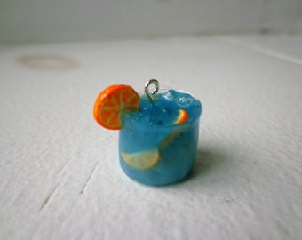 Mixed Drink/ Orange Tequila/ Polymer Clay Charm