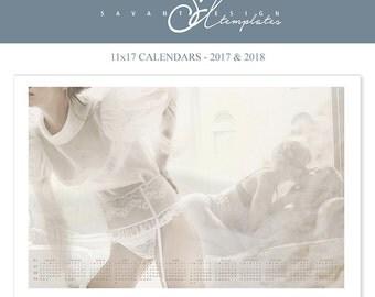 2017 Wall Calendar, Boudoir Photo Calendar, 2018 Calendar, Photoshop Calendar Template, Love, CA150, Instant Download