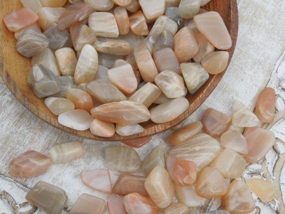 Peach Moonstone Tumbled Healing Stones by newagegirl88 on Etsy