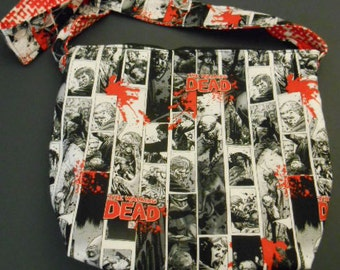 Handmade, The Walking Dead and Zombie,  shoulder purse