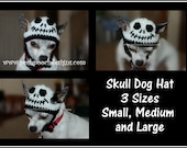 Skull Dog Hat Crochet Pattern for Small, Medium and Large Dogs