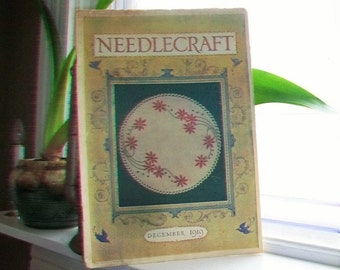 1919 Needlecraft Magazine December Issue with Great Cream Of Wheat Ad Vintage 1910s Sewing