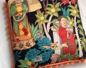 Frida Kahlo Pillow with Pom Poms