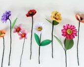 Build a Bouquet, Floral Bouquet, Paper Flower Bouquet, Bridal Bouquet, Wedding Flowers