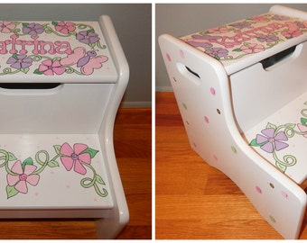 Childrens Two Step Personalized Step Stool