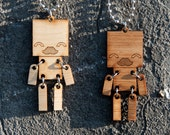 "Happy Robot /w Mustache Necklace - 20"" Chain included"