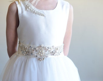 The Pearl Flower girl dress, First communion dress