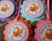 Bubble Guppies Favor Tags - Bubble Guppies Thank You Tags - Bubble Guppies Birthday - Bubble Guppies Party Decoration - Girl's Bubble Guppie