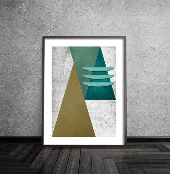Abstract, Art, Poster, Mid Century Modern, Minimalist, Modern Art Print, Geometric, Contemporary