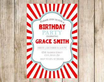 Red & White Invitation