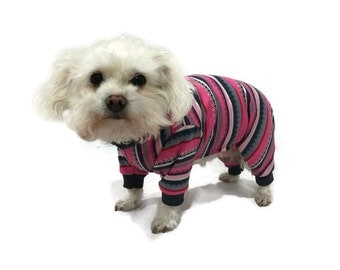 Pink and Gray Dog Pajamas - Dog Clothes - Dog Pajamas - Dog Clothing - Dog Onesie - Pajamas for Dogs - Clothes for Dogs - Dog - Dogs