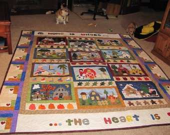 Home is Where the Heart Is Quilt