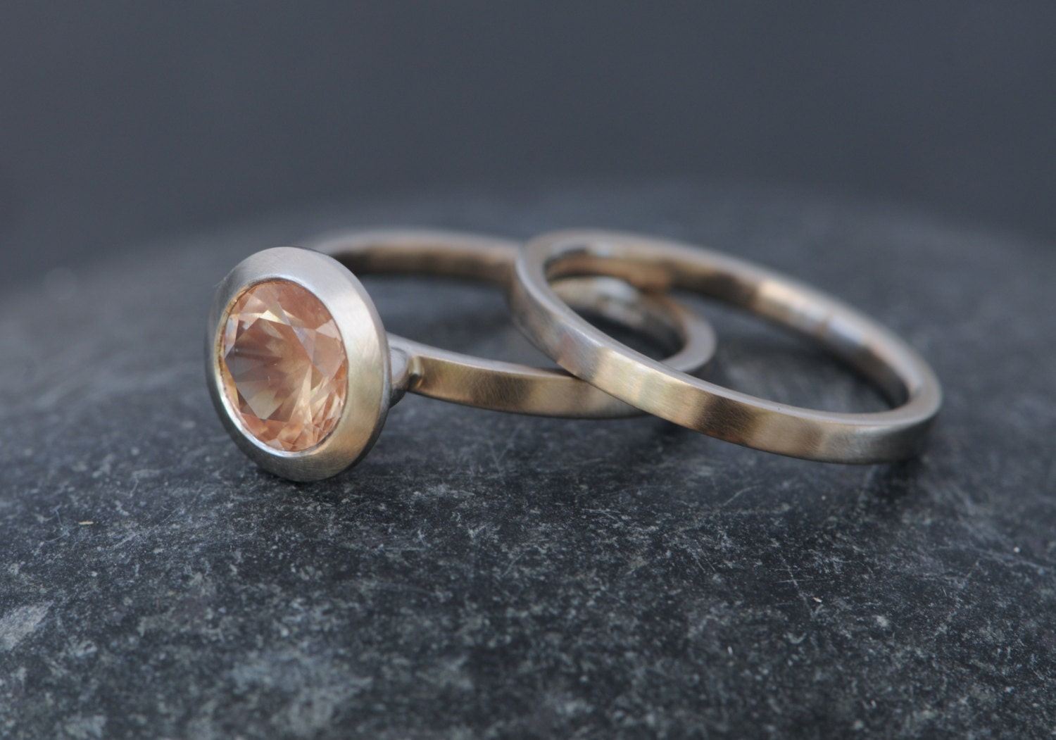 wedding cassin and bands engagement blog stone sun rings rose gold sunstone band featured oregon matching madelynn designs halo