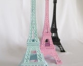 Eiffel Tower, Cake Topper, Mint Green, Home decor, Gift, Paris, French, Pink
