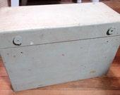 antique primative tool box wood box