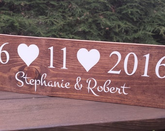 Rustic Wedding Sign, Rustic Wedding, Personalized Sign, Name and Date Sign, Family name sign, Custom Wood Sign, Wood Name Sign Save the Date