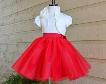 Flower Girls' Tulle Skirt, Girl's Short  tulle Skirt , Tulle Tutu, Flower Girl Tutu ,