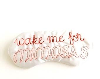 WAKE ME for MIMOSAS sleep mask