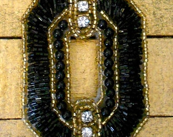 Black and Gold Rhinestone Appliques