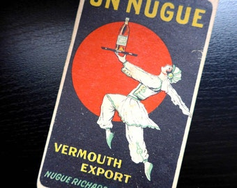 "NOS French Vintage 1940's Advertising Notebook ""Nugue"""