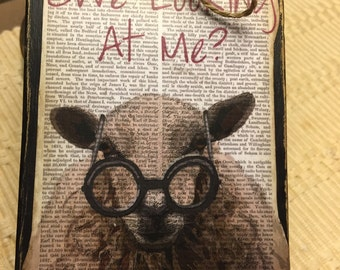 Ewe Looking at Me Block Sign
