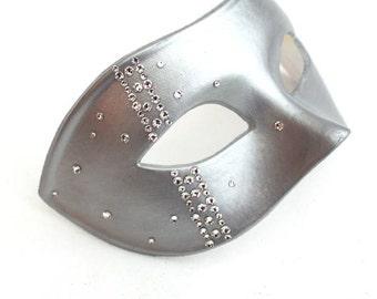 Men's Luxury Jewelled Swaroski Crystal Masquerade Ball Mask