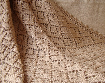 Baby blanket knit, shower gift, wool baby blanket, made to order